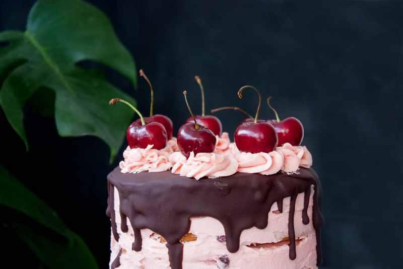 Receta tarta cerezas chocolate