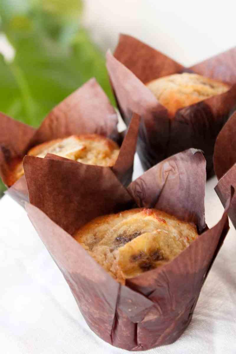 Muffins platano receta