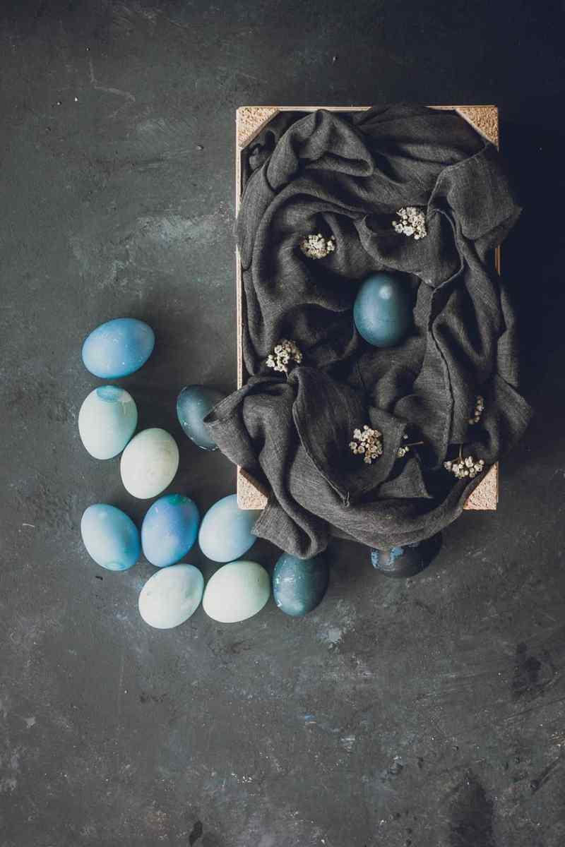 Huevos pascua tinte natural