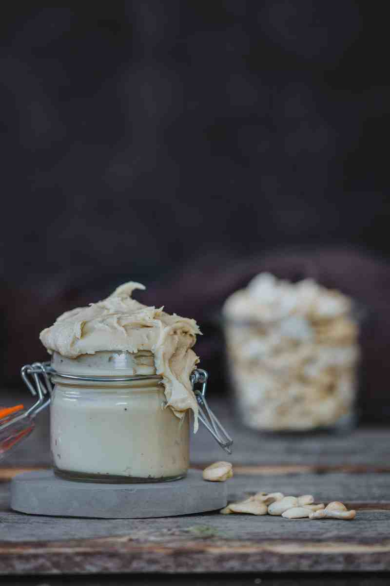 Receta de mantequilla de anacardos