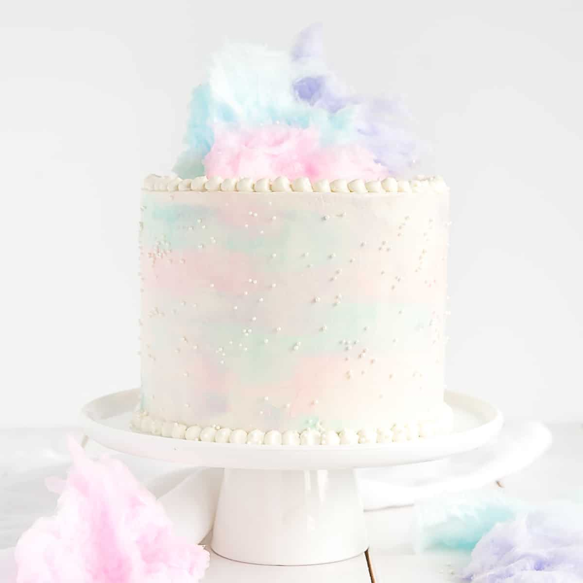 Yummy Yummy Cotton Candy Cake