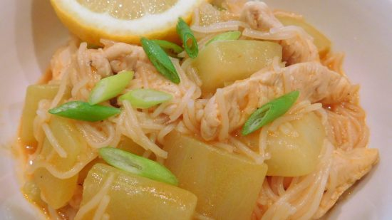Opo Squash and Thai Thin Rice Noodle Soup Recipe