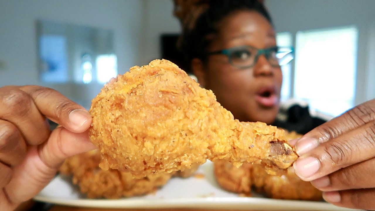 QUANG TRAN'S FRIED CHICKEN GAME! COOKING AND EATING