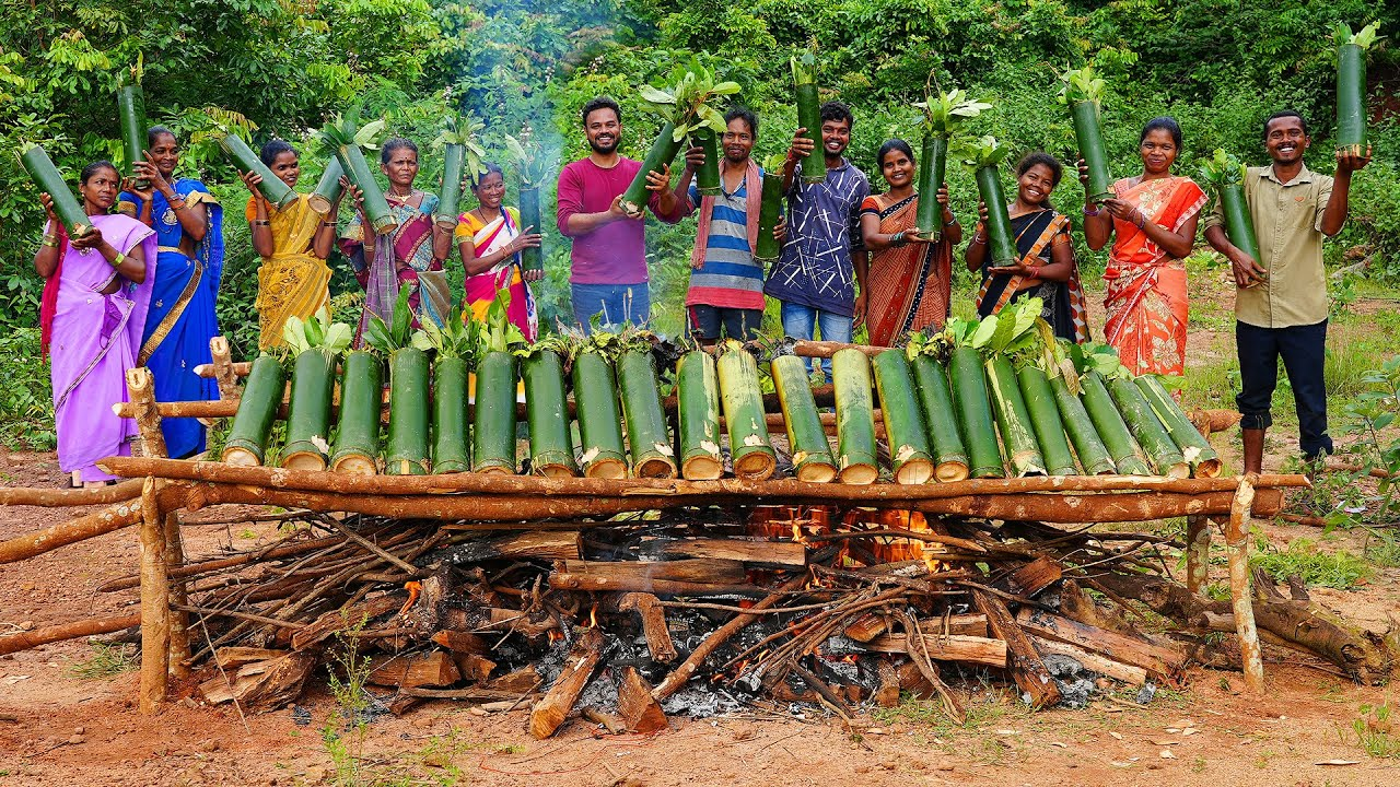 TRADITIONAL BAMBOO CHICKEN RECIPE WITH TRIBAL