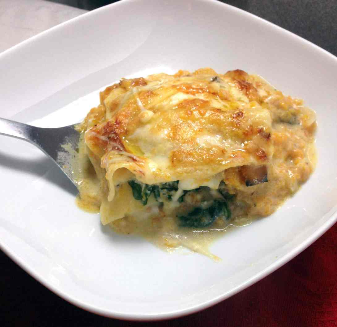 Four Cheese Butternut Squash Lasagne