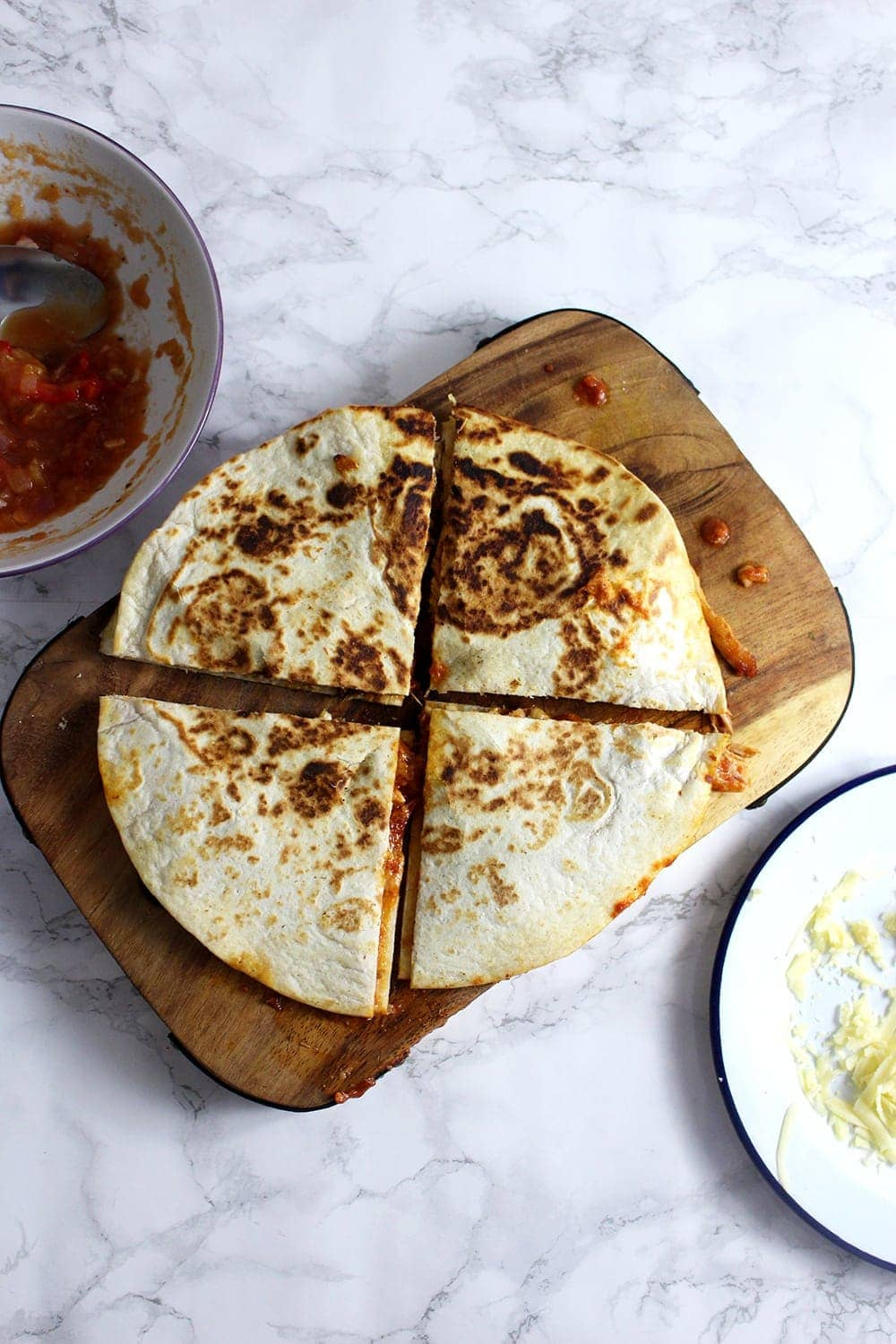 Slow Cooker Chipotle Chicken Quesadillas