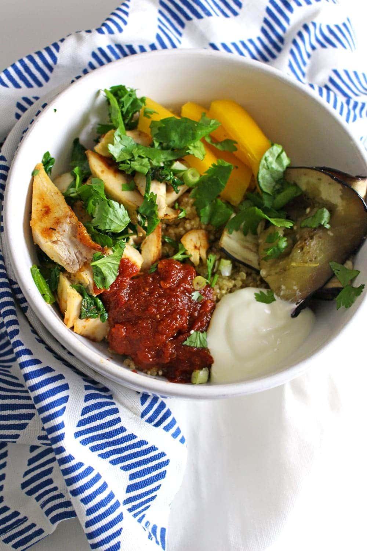 Chipotle Chicken Quinoa Bowls