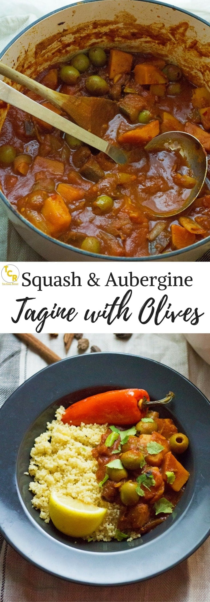 This squash & aubergine tagine is a delicious vegetarian dinner. Bursting with Moroccan flavour this tagine is healthy and suitable for vegans!