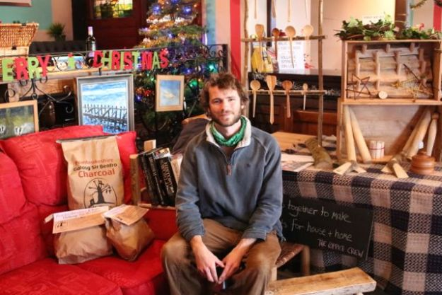 Yours truly at a Christmas Fair in our neighboring village last year.