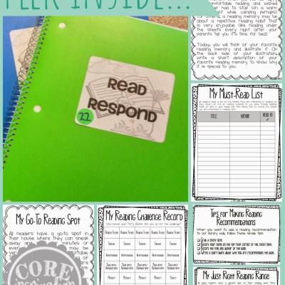 Reader's Workshop Series – Read and Respond Journals