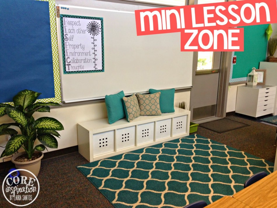 Core Inspiration mini lesson zone. The perfect area for students to have personal space during our mini lessons.