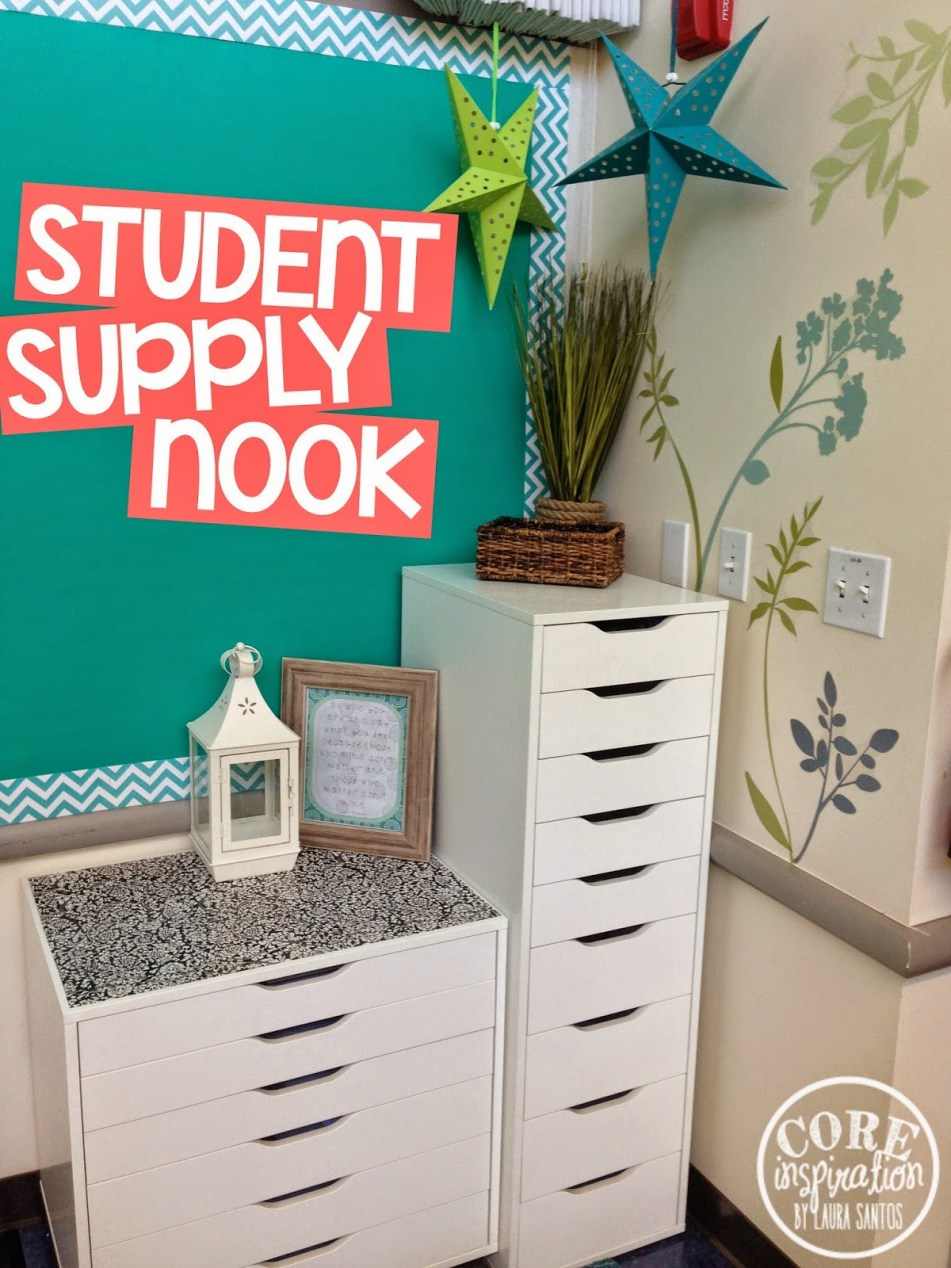Core Inspiration student supply nook.