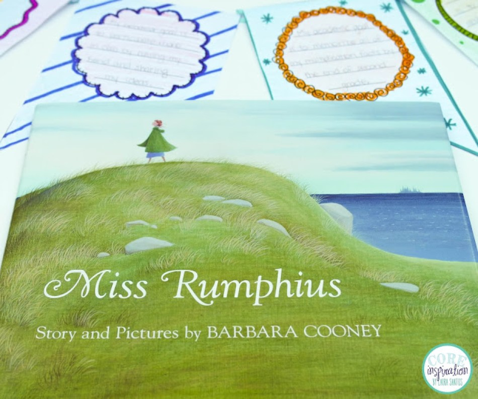 Miss Rumphius by Barbara Cooney, Hopes and Dreams Banner in background