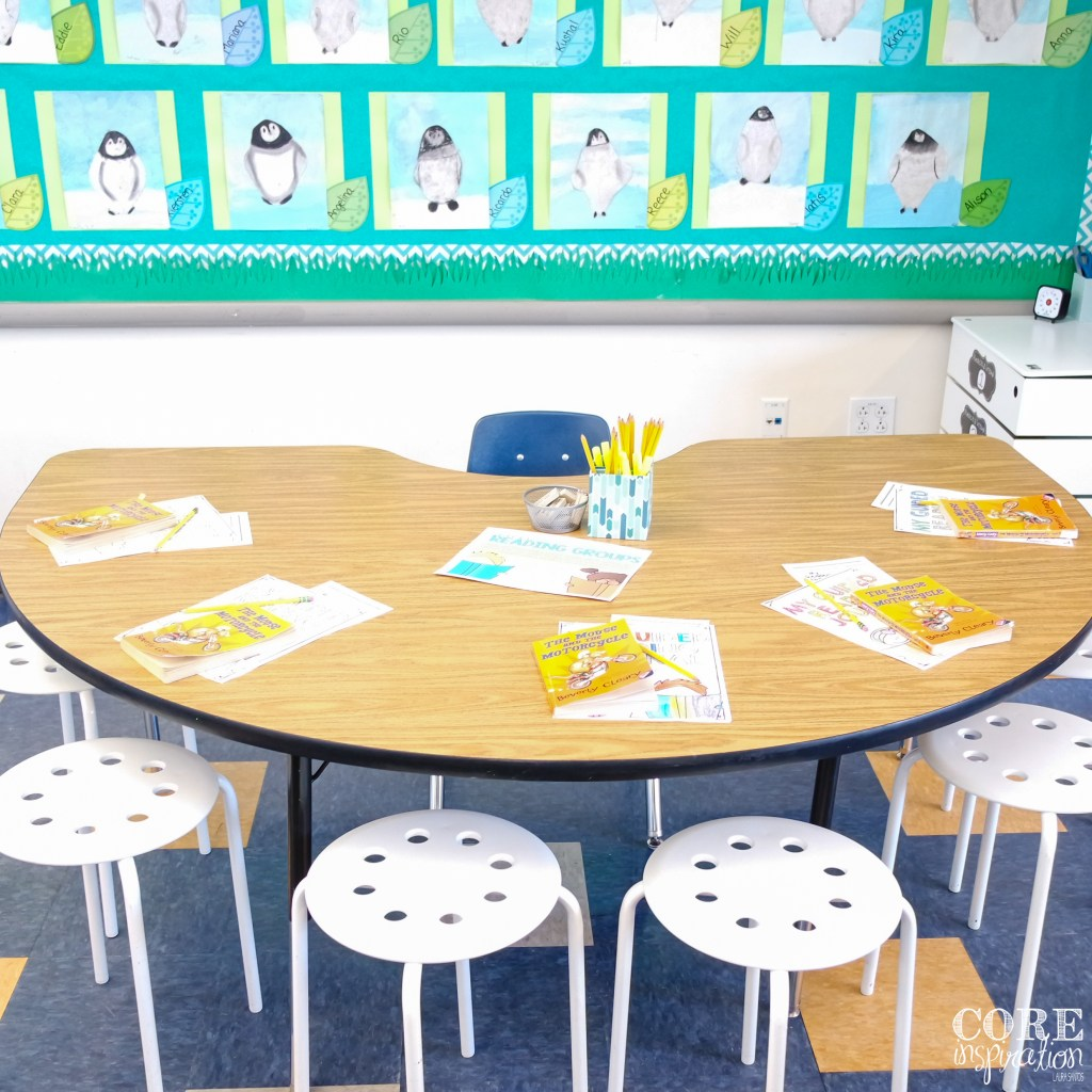 Our small group instruction table a the back of the classroom.