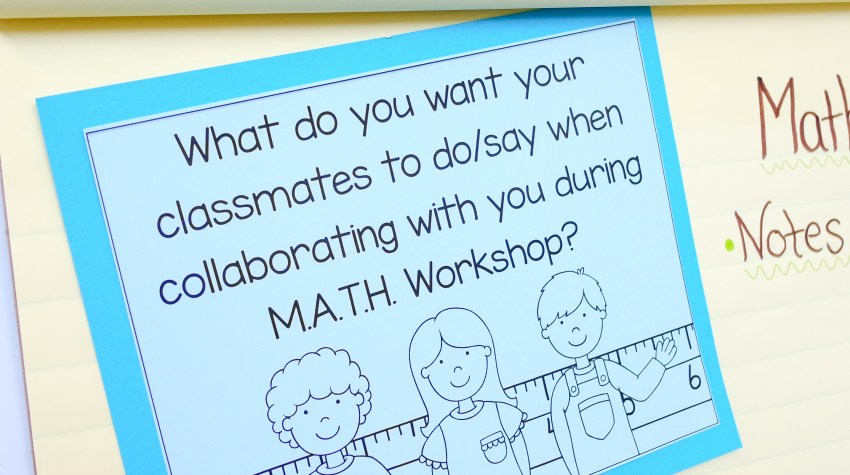 Poster Used For Introducing Students to Math Triads