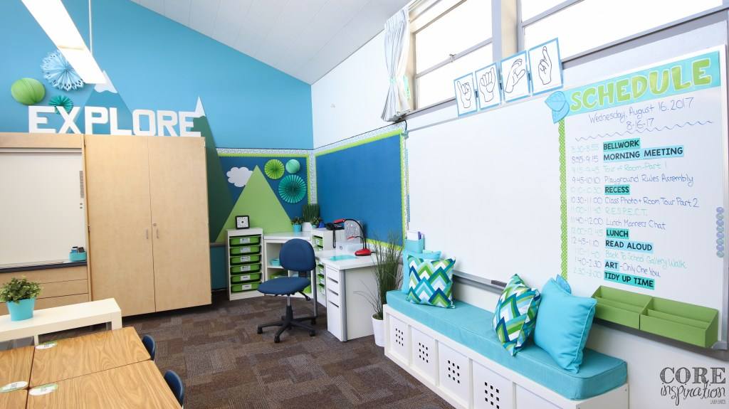 Core Inspiration third grade classroom where a consistent classroom is used daily.