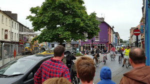 File photo of Clonakilty Mayor (2015-2016) cycling in the Town last summer.