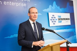 DKANE 05/10/2015 REPRO FREE Minister for Agriculture, Food, the Marine and Defence Simon Coveney, T.D. speaking at the launch of IRELAND'S FIRST INNOVATION CENTRE FOR MARINE & ENERGY : Ireland's newest co-creation space, The Entrepreneur Ship, was officially opened  by Minister for Agriculture, Food, the Marine and Defence Simon Coveney, T.D. The new centre seeks to optimise the well documented opportunities of the blue economy for Ireland, and accelerate job creation in this sector Pic Darragh Kane.
