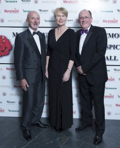 FREE PIC  NO REPRO FEE  Ger Keane Keanes Jewellers , Maggie Timoney MD Heineken Ireland and Martin Kelleher  Chairperson Marymount Ball Committee pictured at The Marymount Hospice Ball, the highlight of Cork's social calendar each year, had guests dancing the night away for a very worthy cause at the Radisson Blu Hotel, Little Island. This is the ninth year of the Marymount Ball and, to date, the event has raised in excess of €800,000 towards funding and maintaining the ongoing work the hospice provides in palliative and respite care to the sick and elderly. Pictures Gerard McCarthy 087 8537228  More Info contact Maura O'Brien 086 8590335  mauracork@hotmail.com   , Noreen O'Sullivan    normaos2014@gmail.com
