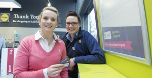FREE PIC  NO REPRO FEE Lidl currently have a competition in all stores where customers can vote for their local girls post primary team to win a kit competition. Pictured casting a vote is Cork legend Briege Corkery who features in Lidl's ad campaign for their sponsorship of Ladies Gaelic Football and Glanmire Store Manager Zaneta Mista Pictures Gerard McCarthy 087 8537228  More Info contact  Lidl  press@lidl.ie  045 440 599