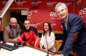 "REPRO FREE - NO REPRODUCTION FEE. 29/02/2016. Cork's RedFM reach agreement with GAA for additional reporting rights Launch, in the new RedFM Studio, at RedFM Studios, Curraheen Road, Cork. Pictured are Ruairi O'Hagan and Lisa Lawlor, Cork's RedFM The Big Red Bench with Stephen McDonnell, Cork Gaa Senior Hurling Captain and Kieran Kingston, Cork Gaa Senior Hurling Manager, in the new RedFM Studio. Picture: Jim Coughlan. Press Release: Cork's Red FM reach agreement with GAA for additional reporting rights. Immediate release In association with the Gaelic Athletics Association, Cork's Red FM is delighted to announce that it has secured additional access to, and reporting rights for all Cork GAA matches. The station had previously been permitted to enter locally hosted National League and Munster Championship fixtures, but will now receive full press accreditation for all games involving Cork GAA. The station will now be in a position to provide live on-air updates from games, and will have access to the post-match press conferences. This successful application is testament to the stations continued dedication to Gaelic Games coverage, consistent growth in on-air output and online activity, including the proud sponsorship of the Red FM Senior Hurling League.   Cork Senior Hurling and Football Captains, Stephen McDonnell and Paul Kerrigan, along with Hurling Manager Kieran Kingston and Football Selector Eoin O'Neill were on hand to help in the launch of this new deal. It comes ahead of a bumper weekend of Gaelic Games coverage this weekend where Cork's Red FM will provide updates from the National League double header featuring Cork versus Dublin on Saturday, before full coverage of the All Ireland Camogie Club Finals featuring Milford, at GAA Headquarters on Sunday. Commenting on the new Rights, Cork's Red FM CEO Diarmuid O'Leary has said ""Corks Red FM are delighted to be further extending our coverage of the inter-county teams for both men and women. We look fo"