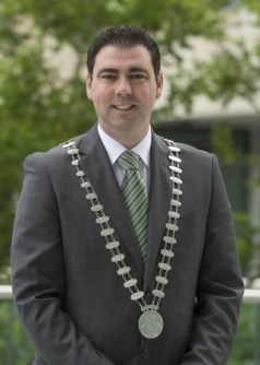 Cllr. John Paul O'Shea, Mayor of the County of Cork.  Picture: Martin Walsh.