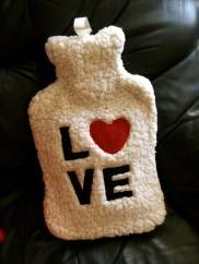 Couldn't resist the faux sheepskin LOVE bottle! Functional and cute!