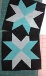 Loving Tina's turquoise & black blocks