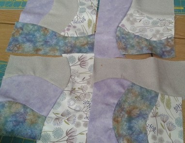 Lesley's soft curved piecing