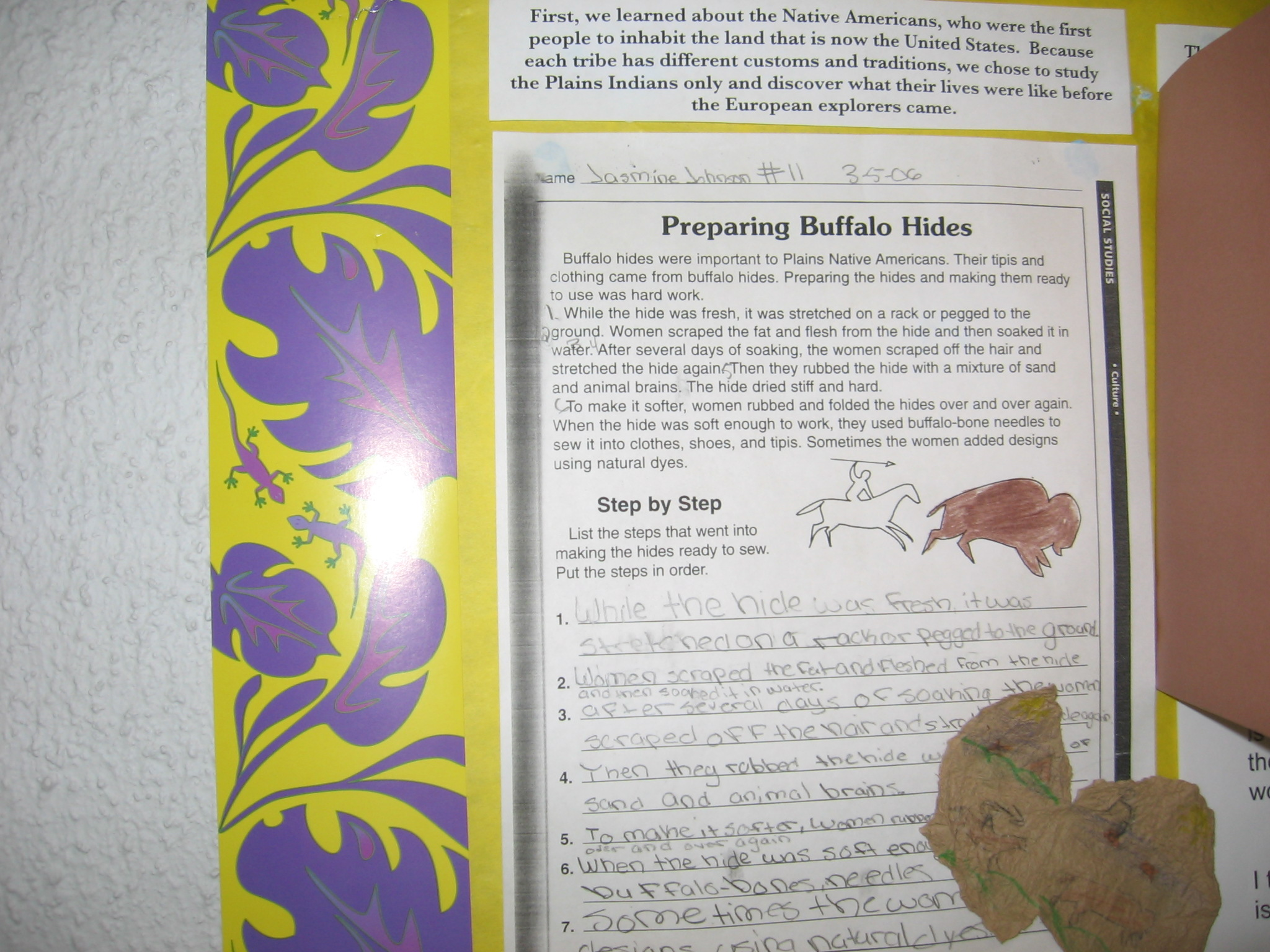 Hands On Activities From Our 3rd Grade American History Unit