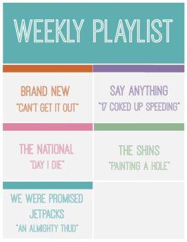 Weekly Playlist