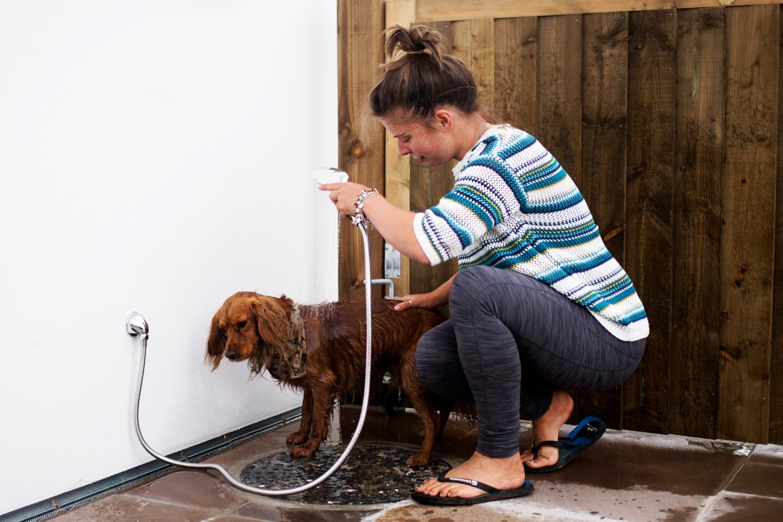 Outdoor Heated Dog Showers | The Cornish Dog