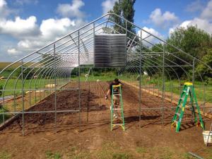 Framing the new hoop house