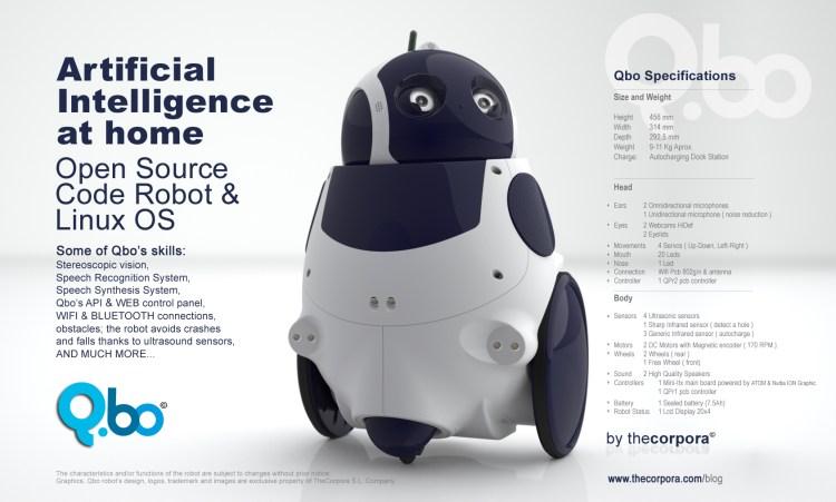 qbo robot, thecorpora, open source robot,francisco paz