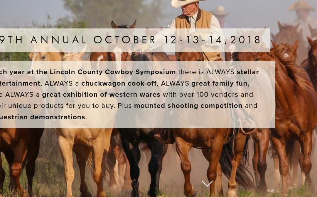 Lincoln County Cowboy Symposium – Ruidoso, NM