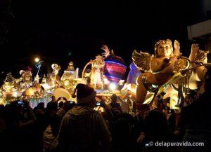 Cherubim float in Festival of Lights, Costa Rica.