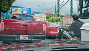 traffic jam in Costa Rica