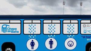 Chepe se baña Bus Design Help Homeless San Jose Promundo
