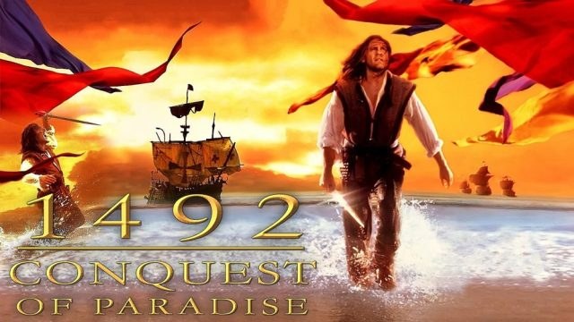 This film refers to the year Christopher Columbus landed in the New World territories.