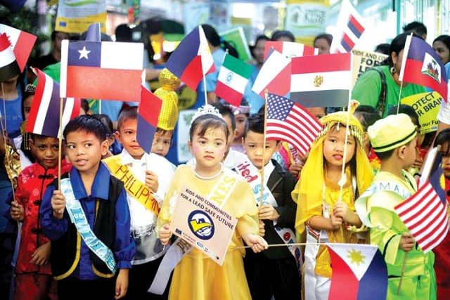 Children representing Peace, Justice, and Equality values