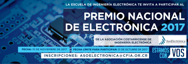 This is Costa Rica's most important award in the Electronic Engineering area.