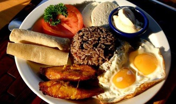 Gallo Pinto is one of the most traditional dishes served as breakfast in Costa Rica.