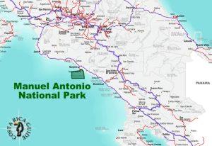 Manuel Antonio National Park map location