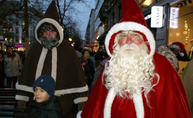 Santa Claus and Schmuzli are always present in Swiss tradition for Christmas celebration.