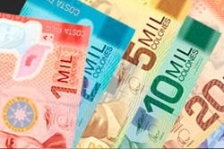 Colones (banknotes of Costa Rican currency)