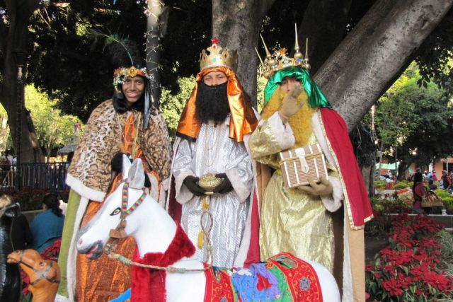 It is common that Catholic believers dressed-up as the 3 Kings on this day.