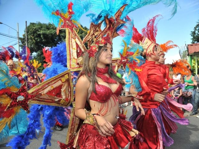 Parades are very colorful during Carnival festivity.