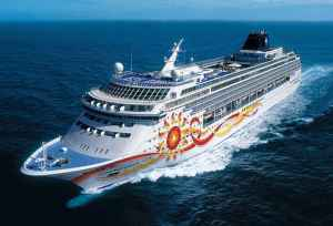 Cruise boats may sail different oceans around the world.