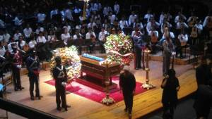 "Last Saturday, March 24th, an emotional tribute and farewell was given to ""El Maestro"" José Antonio Abreu at the Simón Bolívar Conservatory, Caracas - Venezuela."