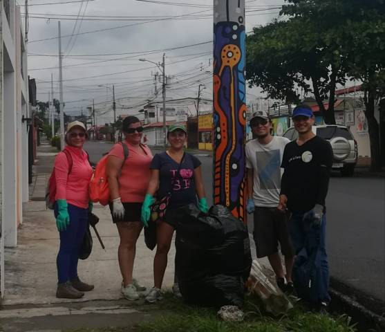 Neighbors volunteering on the streets.